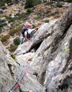 Escalando en El Pico de La Miel