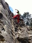 Descuelgue escalada