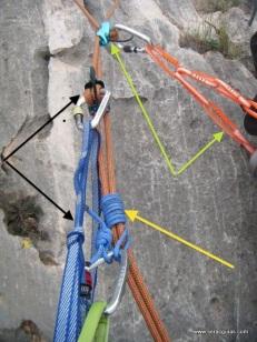 Rapel Machard+Rapel asegurado desde abajo