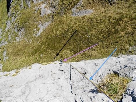 Rápel largo de 60 metros