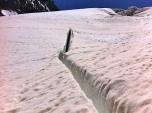 Grieta ó Crevasse; el motivo por el que ir encordado correctamente, en progresión sobre el glaciar
