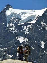 Espesor nieve en cotas más altas del Monte Pelvoux. Vestigios de tiempos pasados.