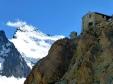 Refugio, con el Barre de Ecrins, a la izquierda. Con 4.100 mts, es el punto más elevado del Macizo de Ecrins