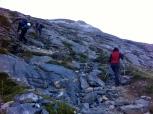 """Subiendo por la """"autopista"""" hacia el Pico de Marboré"""