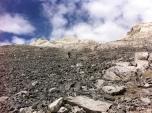 A coleccionar tresmiles!; hacia el Pico Oriental de la Cascada