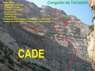 Línea de la escalada (recogido de Nevasport)
