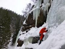 Primera vía en hielo