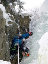 Lali en terreno mixto de hielo roca.....