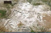 Plano general de Peña Vieja en el Macizo Central de Picos de Europa